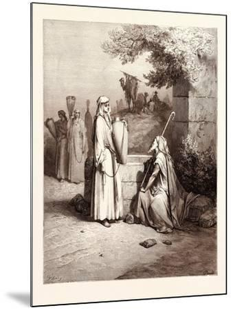 Eliezer and Rebekah-Gustave Dore-Mounted Giclee Print