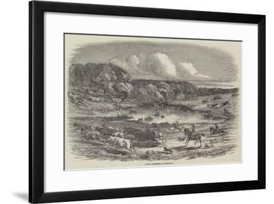 Cattle Mustering in Australia-Harrison William Weir-Framed Giclee Print