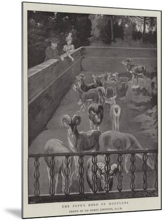 The Pope's Herd of Mouflons-Harry Hamilton Johnston-Mounted Giclee Print
