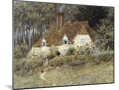 Old Surrey Cottage-Helen Allingham-Mounted Premium Giclee Print