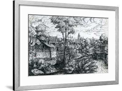 Bridge Near a Watermill, 1553-Hanns Sebald Lautensack-Framed Giclee Print