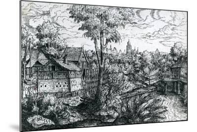 Bridge Near a Watermill, 1553-Hanns Sebald Lautensack-Mounted Giclee Print