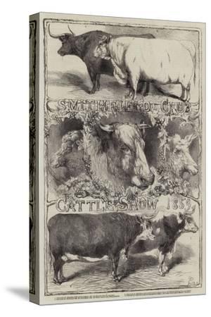 Smithfield Club Cattle Show, 1859-Harrison William Weir-Stretched Canvas Print