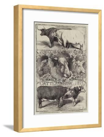 Smithfield Club Cattle Show, 1859-Harrison William Weir-Framed Giclee Print