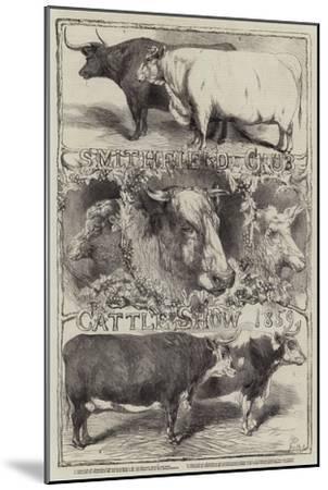 Smithfield Club Cattle Show, 1859-Harrison William Weir-Mounted Giclee Print