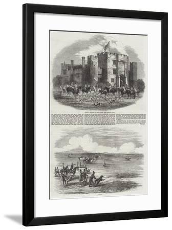 Hunting and Coursing-Harrison William Weir-Framed Giclee Print