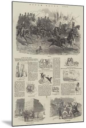 Epsom Races, 1849-Harrison William Weir-Mounted Giclee Print