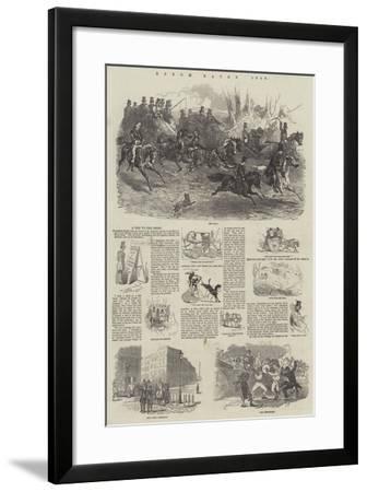 Epsom Races, 1849-Harrison William Weir-Framed Giclee Print