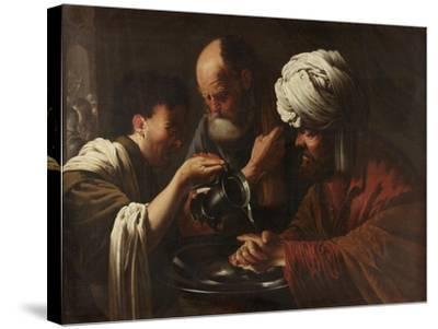Pilate Washing His Hands, C.1615-1628-Hendrick Ter Brugghen-Stretched Canvas Print