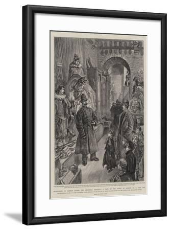 Sightseeing in London During the Christmas Holidays, a Visit to the Tower of London on a Free Day-Henri Lanos-Framed Giclee Print