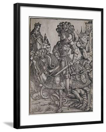 St. George on Horseback, C.1510-Hans Burgkmair-Framed Giclee Print