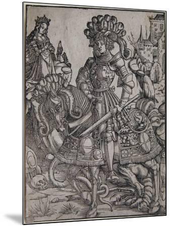St. George on Horseback, C.1510-Hans Burgkmair-Mounted Giclee Print