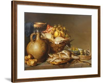 A Still Life of Fish and Other Food-Harmen van Steenwyck-Framed Giclee Print