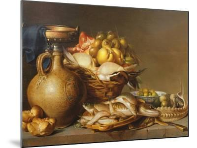 A Still Life of Fish and Other Food-Harmen van Steenwyck-Mounted Giclee Print