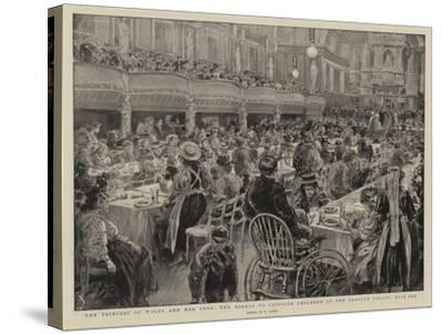 The Princess of Wales and Her Poor, the Dinner to Crippled Children at the People's Palace Mile End-Henri Lanos-Stretched Canvas Print