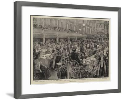 The Princess of Wales and Her Poor, the Dinner to Crippled Children at the People's Palace Mile End-Henri Lanos-Framed Giclee Print