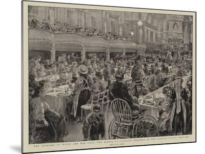The Princess of Wales and Her Poor, the Dinner to Crippled Children at the People's Palace Mile End-Henri Lanos-Mounted Giclee Print