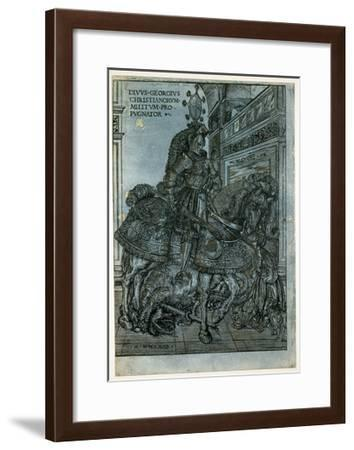 St George on Horseback, 1508-Hans Burgkmair-Framed Giclee Print