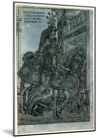 St George on Horseback, 1508-Hans Burgkmair-Mounted Giclee Print