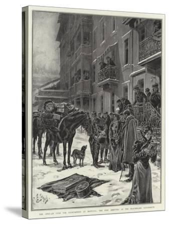 The Open-Air Cure for Consumption at Montana, the Post Arriving at the Beauregard Sanatorium-Henri Lanos-Stretched Canvas Print