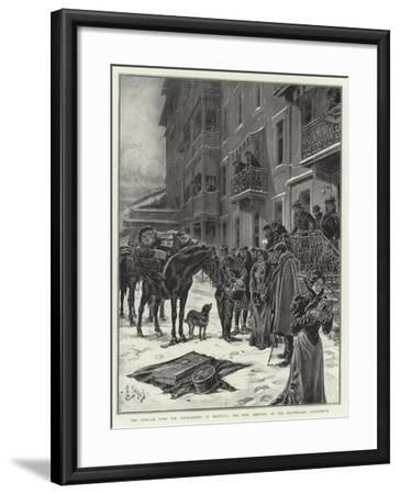 The Open-Air Cure for Consumption at Montana, the Post Arriving at the Beauregard Sanatorium-Henri Lanos-Framed Giclee Print