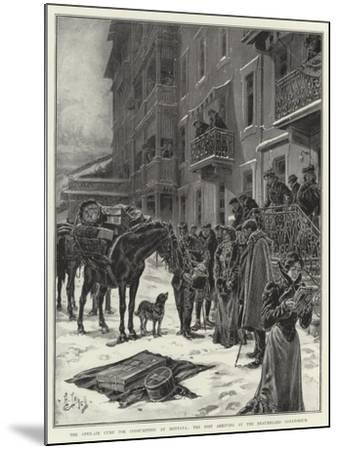 The Open-Air Cure for Consumption at Montana, the Post Arriving at the Beauregard Sanatorium-Henri Lanos-Mounted Giclee Print