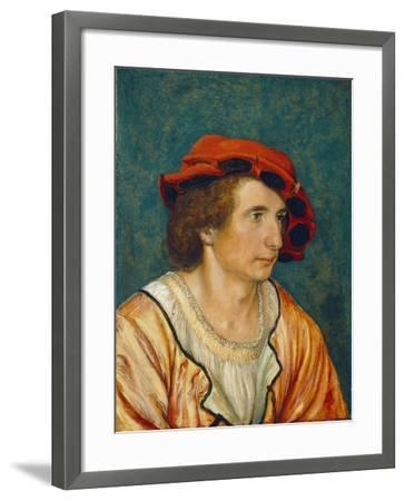 Portrait of a Young Man, C.1520-1530-Hans Holbein the Younger-Framed Giclee Print