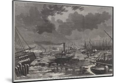 Breaking Up of the Ice at New York, a View from the East River-Harry Fenn-Mounted Giclee Print