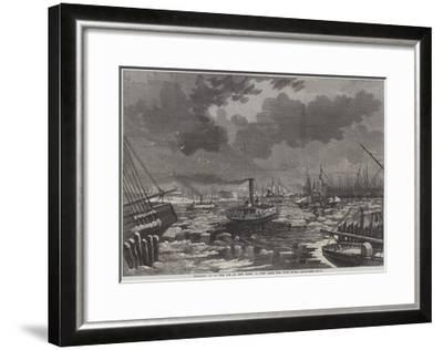Breaking Up of the Ice at New York, a View from the East River-Harry Fenn-Framed Giclee Print
