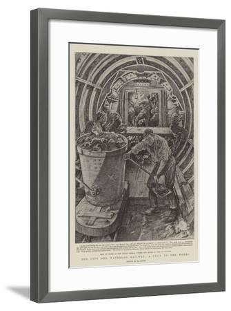 The City and Waterloo Railway, a Visit to the Works-Henri Lanos-Framed Giclee Print