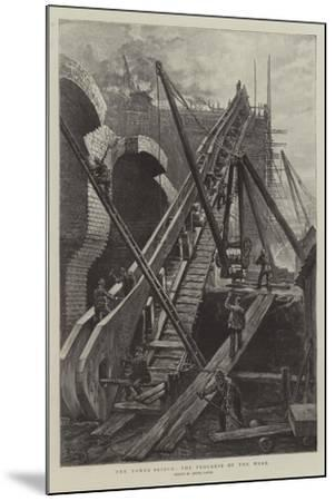 The Tower Bridge, the Progress of the Work-Henri Lanos-Mounted Giclee Print