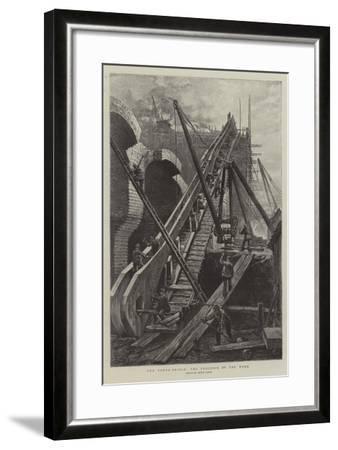 The Tower Bridge, the Progress of the Work-Henri Lanos-Framed Giclee Print