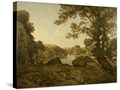 Le Saut De Loup-Henri-Joseph Harpignies-Stretched Canvas Print