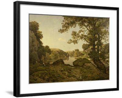 Le Saut De Loup-Henri-Joseph Harpignies-Framed Giclee Print