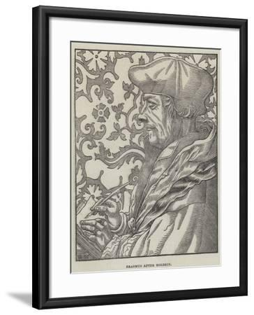 Erasmus-Hans Holbein the Younger-Framed Giclee Print