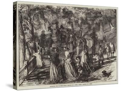 Ascending the Malvern Hills-Harrison William Weir-Stretched Canvas Print