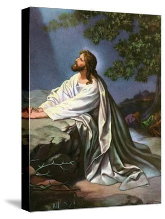 Christ in the Garden of Gethsemane by Heinrich Hofmann, 1930S-Heinrich Hofmann-Stretched Canvas Print