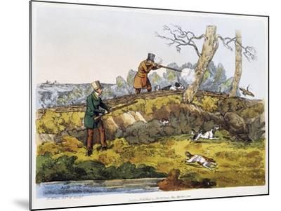 Woodcock Hunting, 1820-Henry Alken-Mounted Giclee Print
