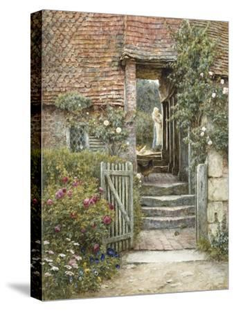 Under the Old Malthouse, Hambledon, Surrey (Watercolour with Scratching Out)-Helen Allingham-Stretched Canvas Print