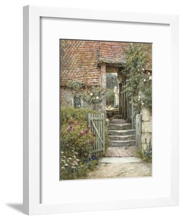 Under the Old Malthouse, Hambledon, Surrey (Watercolour with Scratching Out)-Helen Allingham-Framed Premium Giclee Print