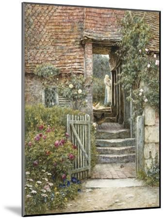 Under the Old Malthouse, Hambledon, Surrey (Watercolour with Scratching Out)-Helen Allingham-Mounted Premium Giclee Print