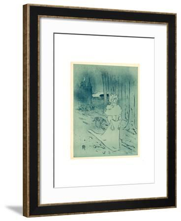 The Manor Lady or the Omen (La Chatelaine Ou Le Tocsin)-Henri de Toulouse-Lautrec-Framed Giclee Print