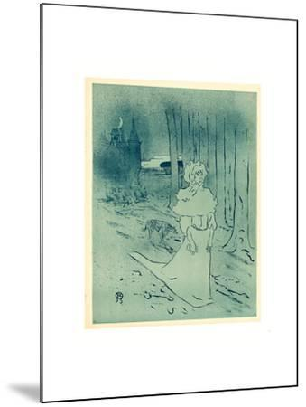 The Manor Lady or the Omen (La Chatelaine Ou Le Tocsin)-Henri de Toulouse-Lautrec-Mounted Giclee Print