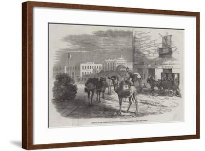 Arrival of the Indian and Australian Mails at Alexandria-Harrison William Weir-Framed Giclee Print