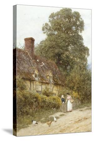 Old Post Office, Brook, Near Witley-Helen Allingham-Stretched Canvas Print