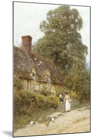 Old Post Office, Brook, Near Witley-Helen Allingham-Mounted Giclee Print