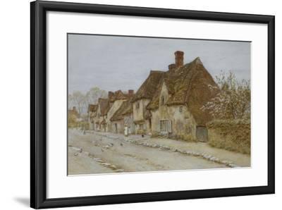 A Village Street, Kent-Helen Allingham-Framed Giclee Print