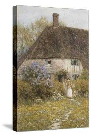 A Kentish Cottage-Helen Allingham-Stretched Canvas Print