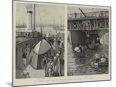 On Wheels across the Sea, the New Roller Steamboat Ernest Bazin-Henri Lanos-Mounted Giclee Print