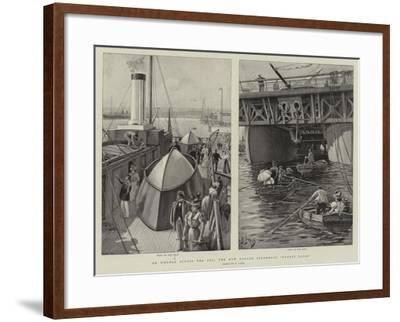 On Wheels across the Sea, the New Roller Steamboat Ernest Bazin-Henri Lanos-Framed Giclee Print